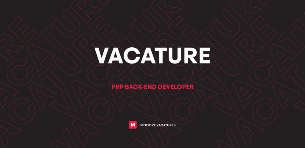 Vacature PHP back-end developer